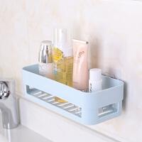 卫生间置物架壁挂浴室化妆洗漱用品收纳置物架免打孔吸壁式收纳盒沥水架