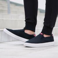 adidas阿迪达斯男子板鞋2018新款懒人鞋一脚蹬休闲运动鞋DB0103