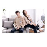 时尚韩版男女士家居服大码加厚休闲卡通珊瑚绒情侣睡衣套装   可礼品卡支付