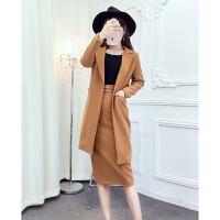 时尚两件套装女2018秋冬季新款韩版气质西装外套+高腰包臀半身裙