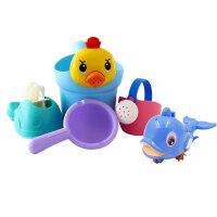 宝宝洗澡玩具婴儿戏水男孩女孩小黄鸭洗头杯花洒儿童洒水壶沙滩