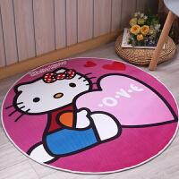 儿童卡通印花圆形地毯客厅卧室地垫脚垫吊篮电脑椅垫