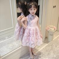 儿童女童连衣裙夏装2019新款3小孩4短袖5夏天公主裙子6岁女孩