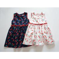 醉樱桃 女宝宝背心裙 纯棉蓬蓬自带美颜 小樱桃系腰带连衣裙