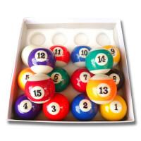 �_球子中式八球子 �渲�美式黑八花式九球桌球子�_球用品配件
