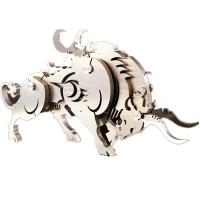 钢魔兽全金属不锈钢拼装模型 奔牛 3D手工创意DIY摆件礼物 奔牛(成品)