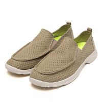 达芙妮集团 鞋柜新款时尚休闲男鞋潮低跟圆头套脚布鞋