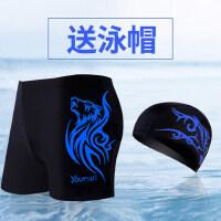 游泳裤男士平角泳衣防尴尬比赛舒适透气温泉印花大码速干游泳装备