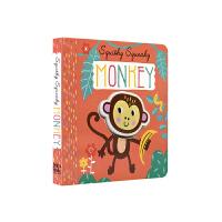 【首页抢券300-100】Squishy Squishy Monkey 趣味动物纸板书 - 猴子 温馨治愈 亲子读物 幼