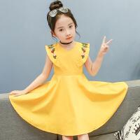 女童连衣裙夏季中大童公主裙新款韩版短袖小女孩童装儿童裙子