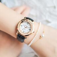 手表女学生简约潮流ulzzang时尚可爱女士皮带水钻石英表