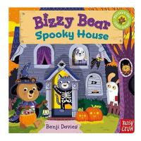 Bizzy Bear Spooky House忙碌的小熊 可怕的小屋 英文儿童绘本 早教童书操作翻翻书