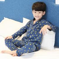 男童睡衣春秋薄款儿童家居服套装中大童夏季长袖