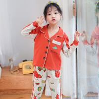 女童睡衣纯棉长袖公主空调服小孩春秋季秋冬款中大儿童家居服套装