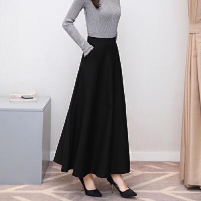 冬天裙子女冬季新款高腰半身裙秋冬中长款百搭时尚半身中长裙 黑色 一般在付款后3-90天左右发货,具体发货时间请以与客服协商的时间为准
