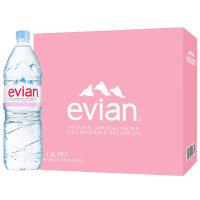 法国进口依云(evian)天然矿泉水1500ml*12瓶