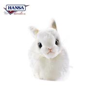 【当当自营】HANSA仿真毛绒公仔 小白兔长17cm