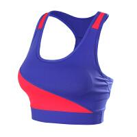 瑜伽服套装女专业运动带胸垫性感美背运动文胸个性拼接健身服套装