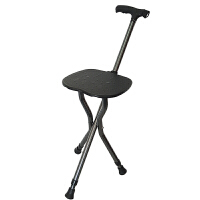 老年人折叠伸缩拐杖凳手杖带凳多功能老人三脚椅子拐棍N09SN1936