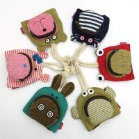 韩国可爱卡通抽绳钥匙包小包帆布女零钱包布艺抽拉式多功能迷你包