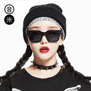 Inmix音米复古大框太阳眼镜新款时尚偏光镜 简约个性墨镜潮1356