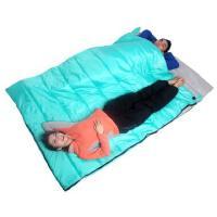 透气睡袋成人午休 户外双人睡袋 露营保暖信封式情侣睡袋2.8kg