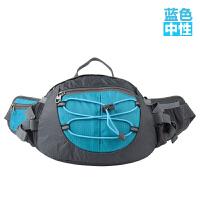 户外腰包男女 多功能腰包休闲单肩包骑行包旅游包 蓝色