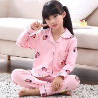 女童睡衣春秋款大童女孩公主套装秋季亲子儿童家居服长袖