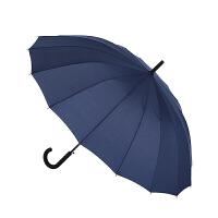 16骨风碰击布长柄自动晴雨伞 太阳伞紫外线 经久耐用