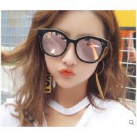 时尚韩版太阳眼镜潮人网红同款户外偏光太阳镜 女士大框圆脸墨镜