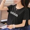 adidas阿迪达斯NEO女子短袖T恤2018新款迪丽热巴同款休闲运动服CV9177