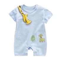 婴儿衣服夏季薄款短袖哈衣3新生儿男女宝宝夏装卡通连体衣爬爬服