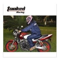暴龙 摩托车单双人雨衣 老工布反光防水加大电动车雨披
