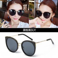 太阳镜女潮新款大框墨镜 复古时尚长脸眼睛圆脸韩版驾驶眼镜