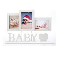 孕妇宝宝相框摆台 婴儿新生满月周岁木质相框礼物5寸6寸 送冲照片
