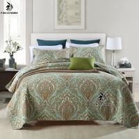 家纺美式纯棉印花床盖三件套 多功能水洗被空调被全棉床单床罩盖被Y 12# 三件套:床盖230x250 1条+50x70