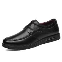 富贵鸟 头层牛皮皮鞋2017秋冬新品商务休闲鞋英伦系带男鞋婚礼鞋 A791049黑色 42
