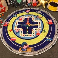 宝宝爬行垫圆形游戏毯玩具收纳地垫儿童婴儿爬爬垫 直径150