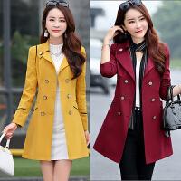 风衣女中长款 小个子2017春季新款女装韩版修身收腰显瘦春秋外套
