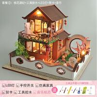老婆生日送什么礼物好 新品 diy小屋别墅中国风创意手工制作小房子模型玩具生日礼物女生
