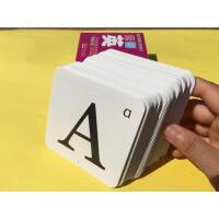 26个英文英语字母学习卡片宝宝认识字母教具闪卡ABCabc大小写儿童英语单词片英文语启蒙字母卡金牌儿童学前教育丛书英语描红本