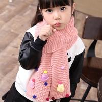 韩国冬季中大童保暖儿童加厚毛线围巾韩版女童可爱公主女孩围脖潮