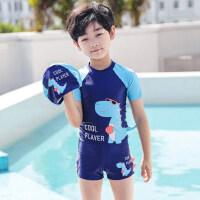 儿童泳衣男童泳裤小 中大童分体游泳衣男孩宝宝防晒速干游泳套装