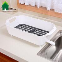 厨房蔬菜置物架沥水架带水槽洗菜盆碗碟架餐具收纳架加厚碗筷架子