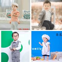 春季新款儿童摄影服装韩版影楼拍照服饰 2岁宝宝照相童装