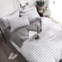 床上四件套风卡通床单被套1.8m学生宿舍被褥套装六件套单人床
