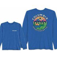 Columbia 哥伦比亚 男士户外透气长袖纯棉T恤 3COLM0526LBB