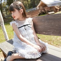 女童�B衣裙夏�b蓬蓬�公主裙�和��b中大童小女孩裙子