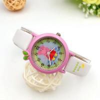 儿童手表女孩防水学生可爱卡通数字指针式小表盘孩童小猪佩奇手表