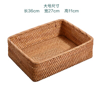 越南藤编收纳筐创意手工编织水果篮客厅家用收纳篮竹编零食水果盘